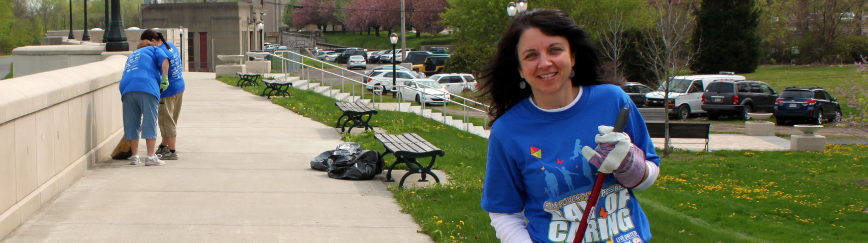 United Way of Wyoming Valley - Day of Caring - Cleaning up The Riverfront Parks in the Wyoming Valley.
